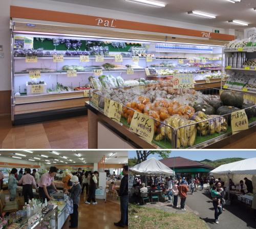 売店の野菜や商品について